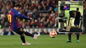'Greatness watching greatness': Messi pounds treadmill while watching his own goals on TV in viral tweet
