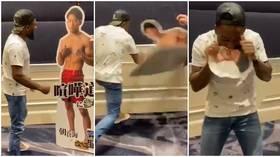 'Unbelievable stuff': Manel Kape EATS opponent's cardboard cutout at weigh-in... before winning RIZIN title showdown (VIDEO)