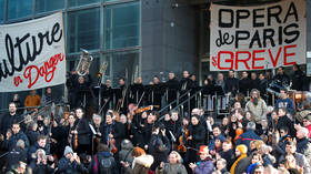 'Art against austerity': Paris Opera gives free street performance amid strikes over pension reform