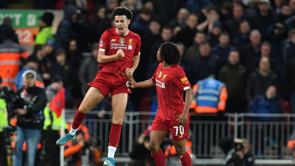 WATCH: Teenager Curtis Jones curls in wondergoal as Liverpool dump rivals Everton out of FA Cup