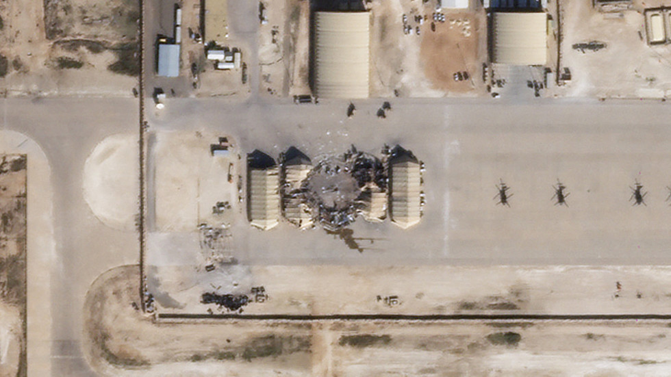 Satellite images show MINOR but PINPOINT damage to US-Iraqi bases from Iranian missile attack, suggesting limited show of force