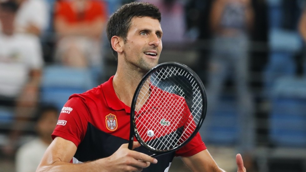 Novak Djokovic Gives Daniil Medvedev The Runaround As Serbia Beat Russia To Reach Atp Cup Final Video Rt Sport News