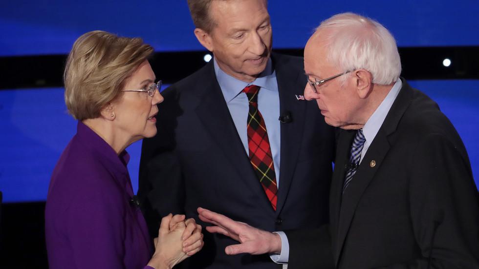 'Even Hillary and Trump shook hands': Warren snubs Sanders handshake after tense Democratic debate