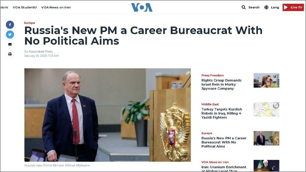 , The Reds are back! Voice of America 'promotes' Communist leader Zyuganov to PM… showing once again MSM can't do Russia, Travel Wire News |  Travel Newswire, Travel Wire News |  Travel Newswire