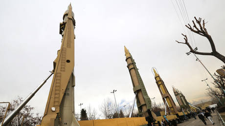 FILE PHOTO: Weaponry and military equipment put on display in Tehran © AFP / ATTA KENARE
