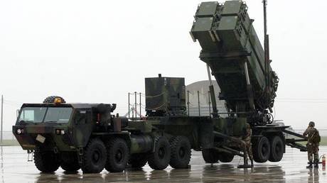 A Patriot missile system in South Korea