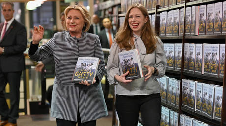 Chelsea and Hillary Clinton promote Gutsy Women - a book they wrote together.