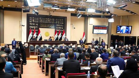An Iraqi parliament session in Baghdad, Iraq January 5, 2020. © Reuters / Iraqi Prime Minister Media Office