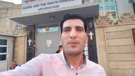 FILE PHOTO: RT freelance cameraman Safaa Ghali is pictured in Basra, Iraq.