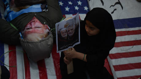 FILE PHOTO: Protest over the murder of Iranian Major-General Qassem Soleimani