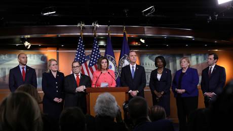 Nancy Pelosi announces the managers for the Senate impeachment trial of President Donald Trump © Reuters / Leah Millis