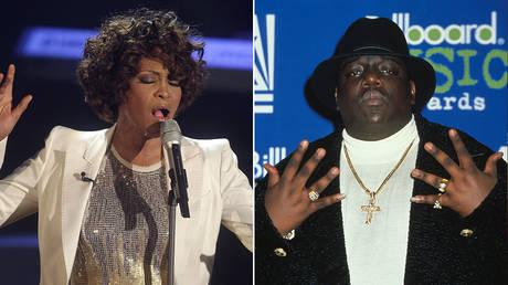 Pop singer Whitney Houston; rapper BIGGIE SMALLS (aka Notorious B.I.G.) ©  Global Look Press / Allaccess / ZUMAPRESS.com;  Global Look Press / Jane Caine / ZUMAPRESS.com