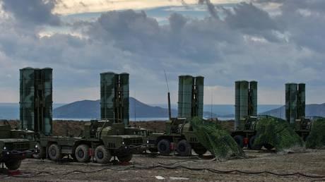 FILE PHOTO: The S-400 Triumph air defense regiment seen deployed in Feodosia, Crimea, Russia