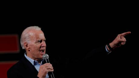 Joe Biden campaigning in Iowa.