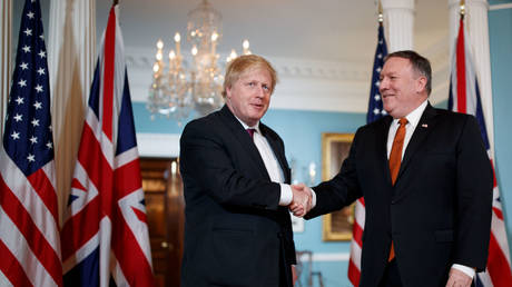 British PM Boris Johnson with US Secretary of State Mike Pompeo  © Global Look Press / Ting Shen
