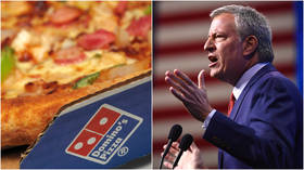 Pizzagate part 2? Bill de Blasio schooled on Twitter after calling out Domino's for selling $30 pizzas on New Year's Eve