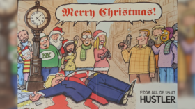 Hustler's Xmas card depicts Trump being ASSASSINATED, bringing conservative horror & liberal joy