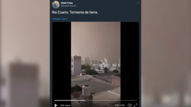 Impending doom: Day turns to night as huge storm batters Argentinian city (VIDEOS)