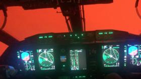 WATCH: Bushfires turn entire sky orange in eerie video from Aussie military cockpit