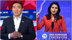 'Innocent mistake'? CNBC replaces Andrew Yang and Tulsi Gabbard with generic Asian man, white senator