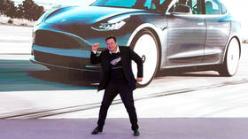 WATCH Elon Musk bust HOT MOVES on stage as he rejoices at launch of Tesla car in Shanghai (VIDEO)