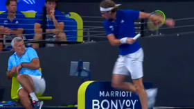 Tsit hits the fan: Stefanos Tsitsipas INJURES HIS OWN FATHER & gets telling off from mom during epic on-court meltdown (VIDEO)