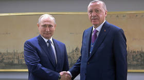 'Example of cooperation for the world': Putin & Erdogan hail new gas pipeline as Middle East tensions boil