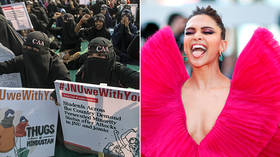 Bollywood megastar Deepika Padukone drops by anti-Modi protest hotbed for easy publicity ahead of movie release