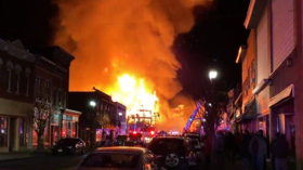 WATCH 'disastrous' blaze fully engulf apartment building under construction in New Jersey