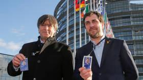 Catalan leader Puigdemont attends EU Parliament session despite Spain's arrest warrant
