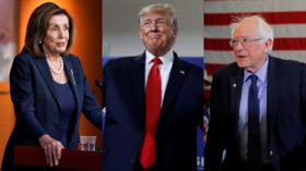 'Rigging election again': Trump says impeachment all a ploy to... shaft Bernie Sanders