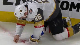 'He's picking up his teeth': NHL player Paul Stastny drips blood after taking puck to mouth in gruesome injury (DISTURBING VIDEO)