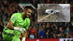 'How did he manage that!?' Man United star Sergio Romero miraculously unhurt after car smash on way to training (PHOTOS)