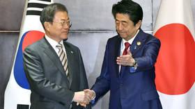 Japan & S. Korea share basic values, Seoul is most important neighbor, Abe says
