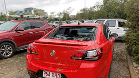 WATCH: Car windows SMASHED by epic hailstones as storms lash eastern Australia