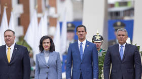 Losing support in Venezuela, 'interim president' Guaido goes abroad to beg Mike Pompeo & EU for yet more help
