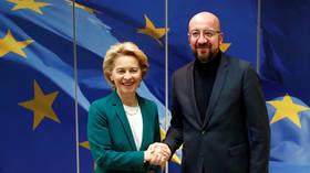 EU top officials sign Brexit deal ahead of vote in parliament