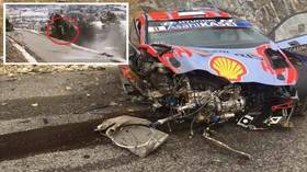 'I'm happy to be alive': Rally driver champion escapes death after HORROR 115mph smash sends car flying off mountain (VIDEO)
