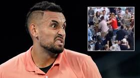 WATCH: Fans brawl in stands at Australian Open before home hero Kyrgios takes on Russia's Khachanov