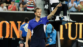 Medvedev marches on: Russian ace cruises into Australian Open fourth round as he remains in hunt for first Grand Slam title