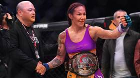 'One of the most decorated fighters in history': Cris Cyborg wins FOURTH MMA title with TKO of Julia Budd at Bellator 238 (VIDEO)
