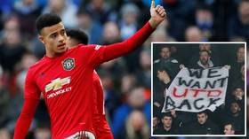 'We're Man United and we'll sing what we want': Supporters vent frustration at club during team's FA Cup drubbing of Tranmere