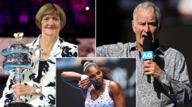 'Win two more so we can leave her in the past!' Tennis great McEnroe pleads with Serena over 'crazy aunt' Margaret Court