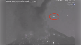 WATCH: UFO spotted in skies over Mexican volcano seconds after ERUPTION