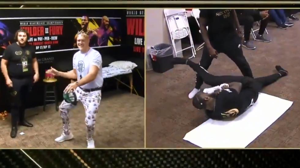 WATCH: Tyson Fury prepares for Deontay Wilder heavyweight showdown by DANCING backstage