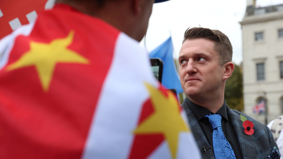 Tommy Robinson locks horns with RT's 'Worlds Apart' as the British activist brings his 'Rape of Britain' lecture to Russia