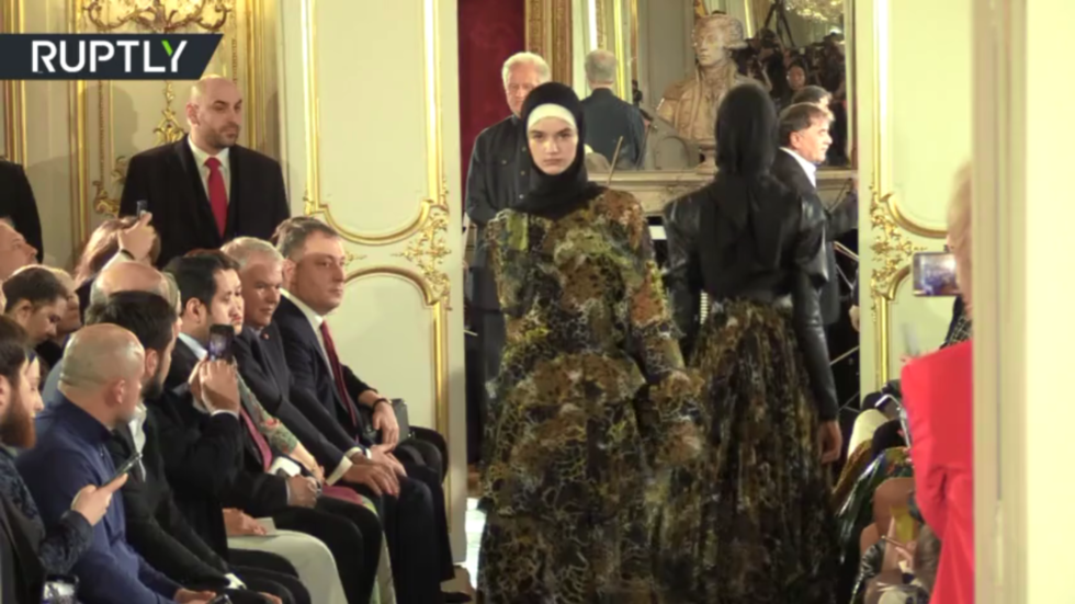 'Inspired by mountains, sky & edelweiss': Chechen leader's daughter dazzles Paris with traditional dress & hijab fashions