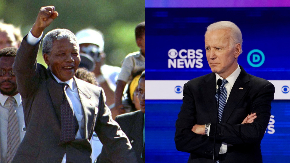 Pants on fire! Joe Biden's campaign says he was never 'arrested' trying to visit Nelson Mandela — RT World News thumbnail