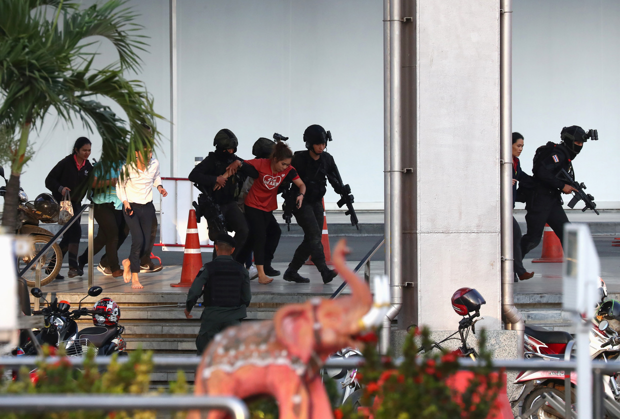 Thailand mall shooting news