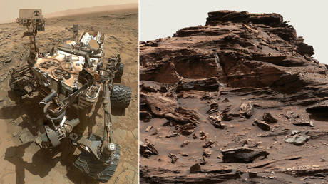 The object was spotted in an image snapped in the Murray Buttes by NASA's Mars Curiosity Rover. © NASA